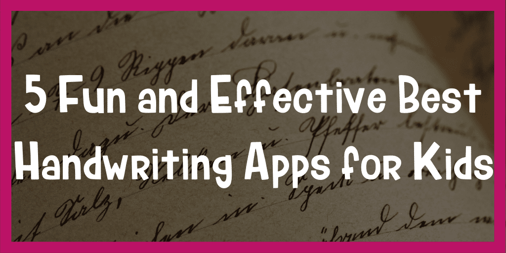 best handwriting apps for kids