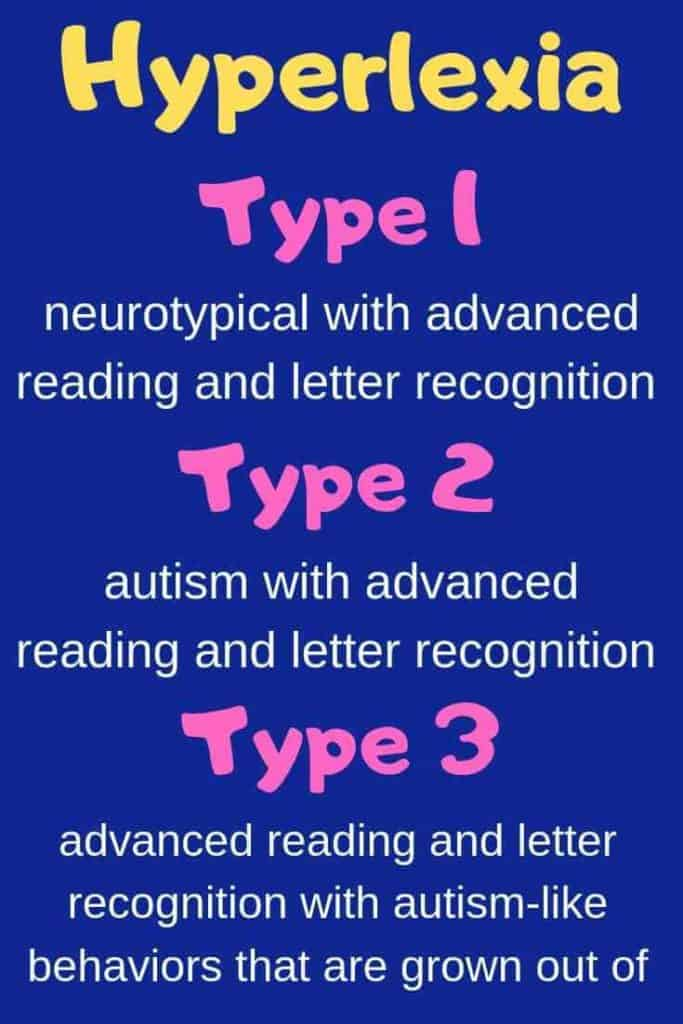 hyperlexia types