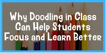 doodling in class for kids with adhd